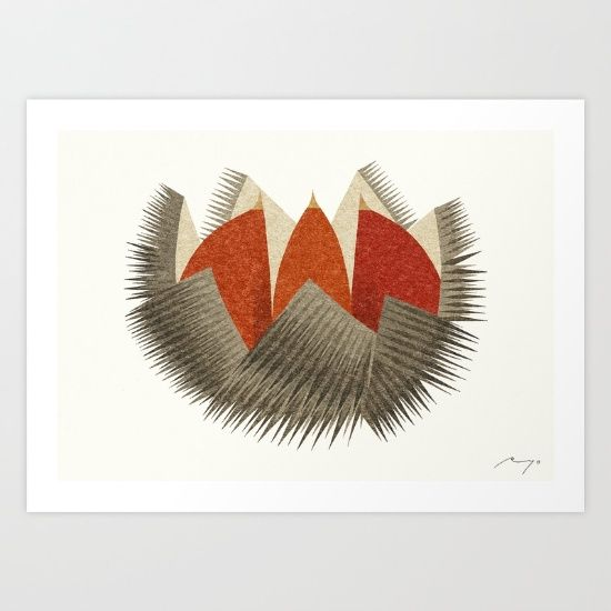 Chestnut Art Print by Ryo Takemasa