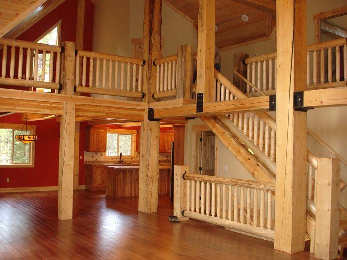 Log Cabin Interiors   California log home kits and pre built log homes, custom Interior ...