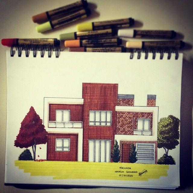 Fachada #croqui #art #arte #architect #architecture #arquitetura #arquitortura #marcadores #desenho #arquitetando