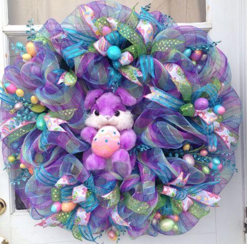 Easter Deco Mesh Wreath