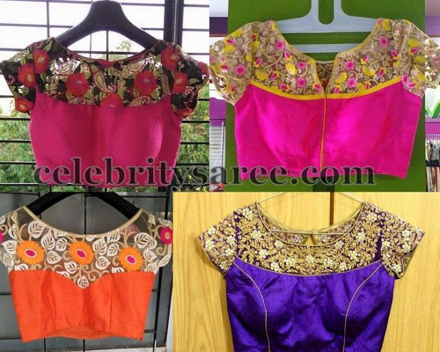 Simple Boat Neck Blouse Designs