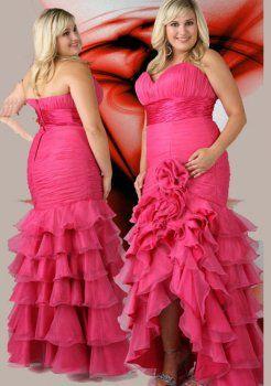 col v sweetheart longue plus la taille des robe de bal grande taille