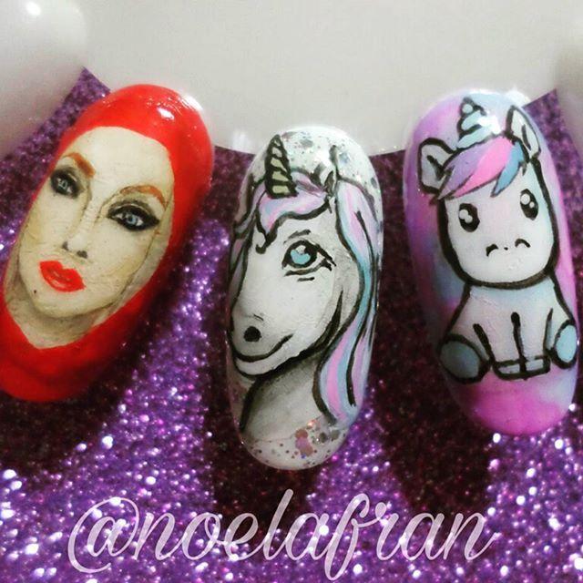 Micropintura♡ ¿Queres aprender a pintar sobre uñas? ●Info de cursos por privado● #nails #nailstagram #instanails #nails2inspire #nailart #nailsdesign #cursodenailart #uñas #micropintura #unicorn #unicornnails #unicornio #noelialafrannails