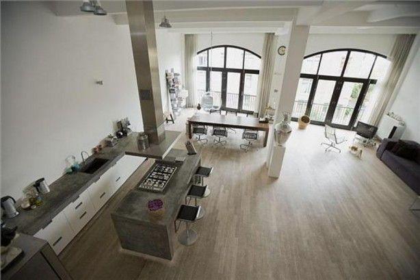 Keuken Landelijk Industrieel : Ramen landelijk veel licht. Een keuken in industri?el landelijke