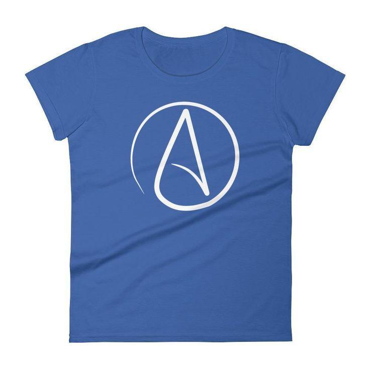 Women's Atheist symbol t-shirt