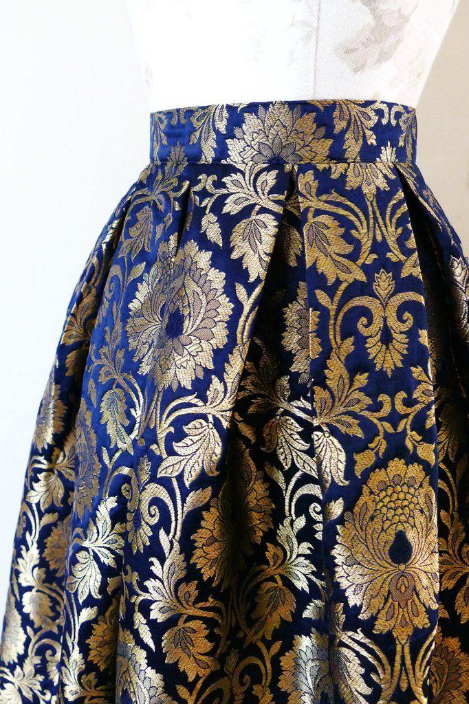 LUXE Opulence Skirt - Navy