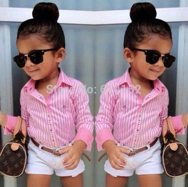 pas cher 015 filles summer l 39 europe am ricains chemise ray e rose short 3pcs de ceinture. Black Bedroom Furniture Sets. Home Design Ideas