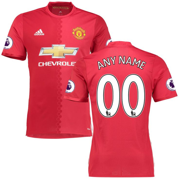 Manchester United adidas Authentic Custom Home 2016/17 Patch Jersey - Red