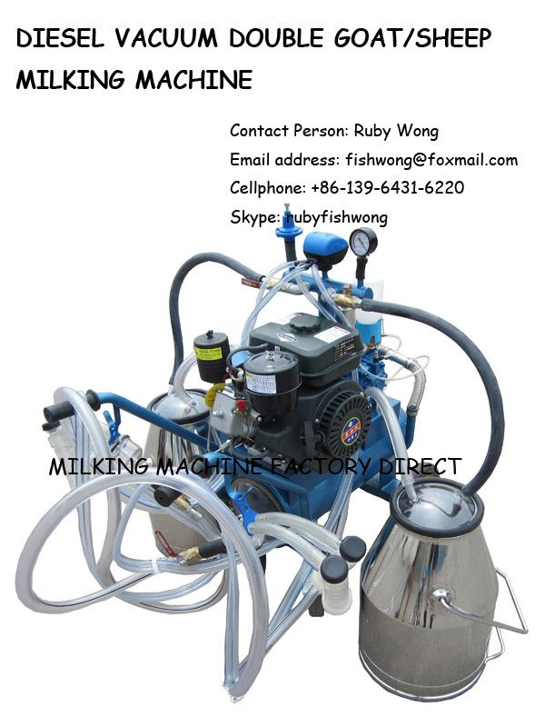 Diesel Vacuum Sheep/Goat Milking Machine