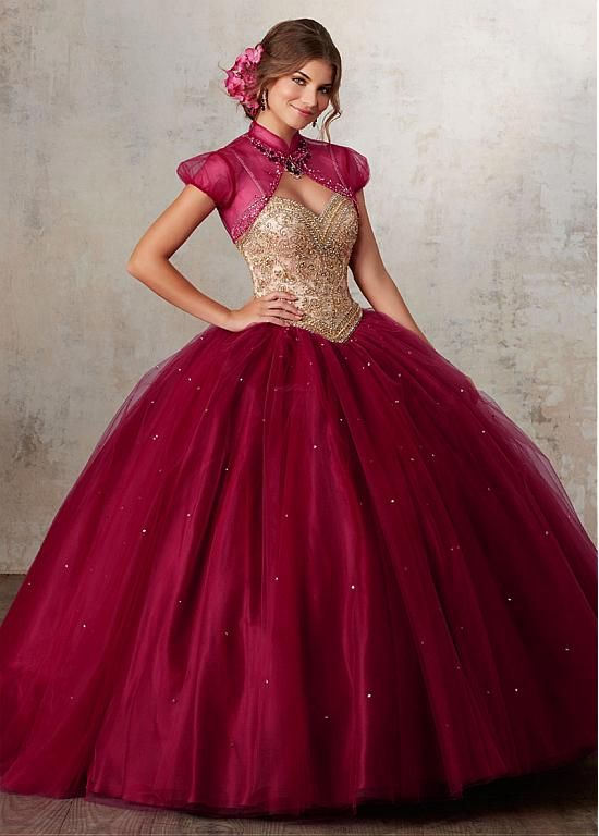Brilliant Tulle  Spaghetti Straps Neckline Ball Gown Quinceanera Dresses With Beadings