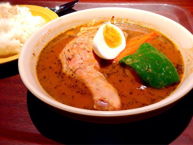 ちぇきんスープカレー頂きます。