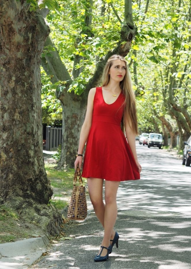 Ethical Fashion Outfit: a red dress for December