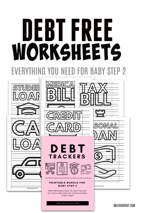 Debt Trackers For Baby Step 2 Debt Free Debt Tracker Debt Free