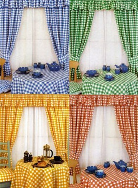 Another summer project. kitchen curtains