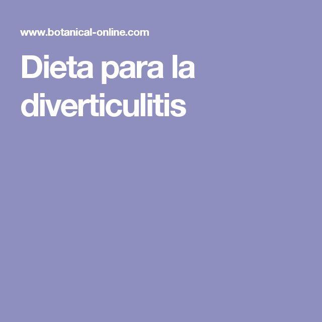 Dieta para la diverticulitis