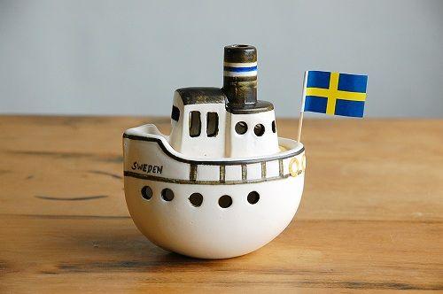 Lisa Larson/リサ・ラーソン/キャンドルホルダー/Boat/ボート - 北欧雑貨と北欧食器の通販サイト  北欧、暮らしの道具店