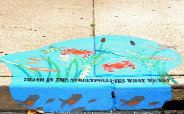 Blue Water Baltimore is doing some really cool storm drain marking advocacy. Check it out!