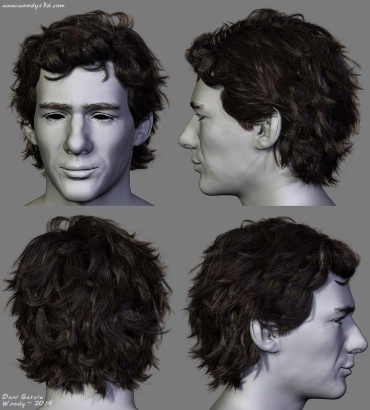 Ayrton Senna Hair by (Woody) Dani Garcia | Realistic | 3D | CGSociety
