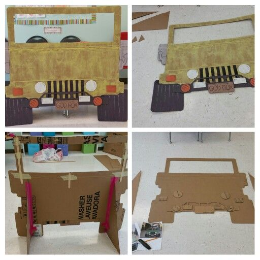 This is a DIY Cardboard Safari Jeep - absolutely NOT a must-have ...but could be a fun add for kids/families to have a photo booth...?