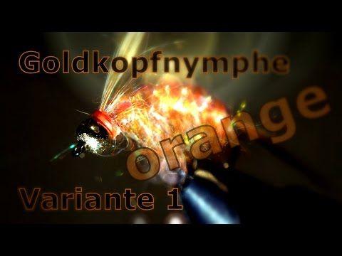 Fliegenbinden Goldkopfnymphe orange Variante 1 Zeitraffer - YouTube