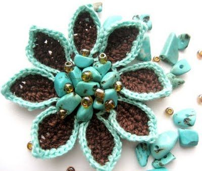 Eight Petals. Looks quick and Different. Good way to use up all your extra beads.