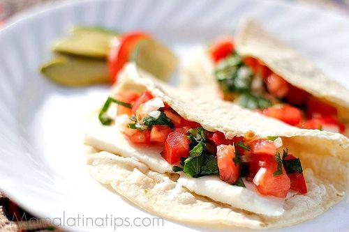 Quesadillas with queso fresco, yummy!!