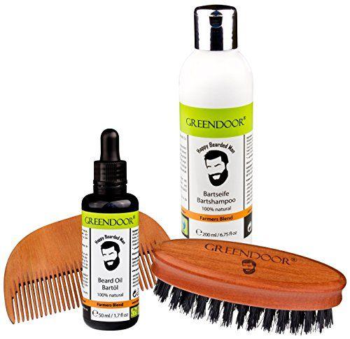 Bartpflegeset-BERLIN-zum-SET-SPARPREIS-Greendoor-Bio-Bartseife-200-ml-Bio-Bartl-50-ml-Bartbrste-Birnbaumholz-mit-Wildschweinborsten-Bartkamm-Holz-Handarbeit-all-natural-Bartpflege-Set-Geschenkset-Gesc