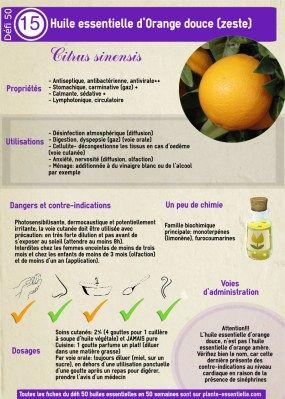 Huile essentielle orange douce: propriétés et utilisation sans danger (Citrus sinensis)