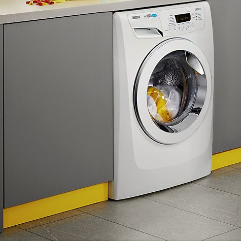 Buy Zanussi ZWF01487W Freestanding Washing Machine, 10kg Load, A    Energy Rating, 1400rpm Spin, White Online at johnlewis.com