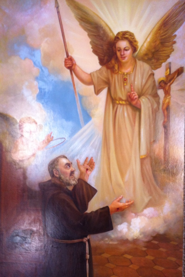 St.Padre Pio, has promised to pray for all his Children in faith,Bore the 5 wounds of Christ seeping a cup of blood a day, but never was anemic. Died not too long ago, 5-10yrs?