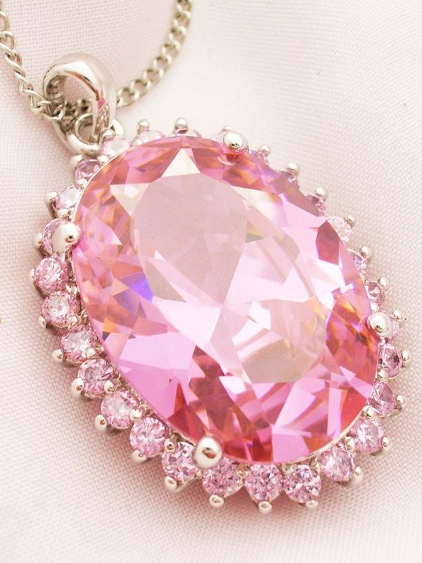 Lovely pink necklace!!!  Bebe'!!! Love this!!!