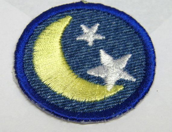 Good Night Moon and Stars Ironon Patch / Merit by waggonswest, $2.00
