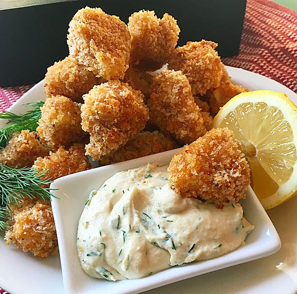 Oven Fried Popcorn Cauliflower Bites // Let's Be Vegan - Easy Vegan Recipes, Tips and Inspiration