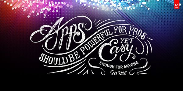 Adobe Creative Cloud Typography Key Notes 2014 on Behance