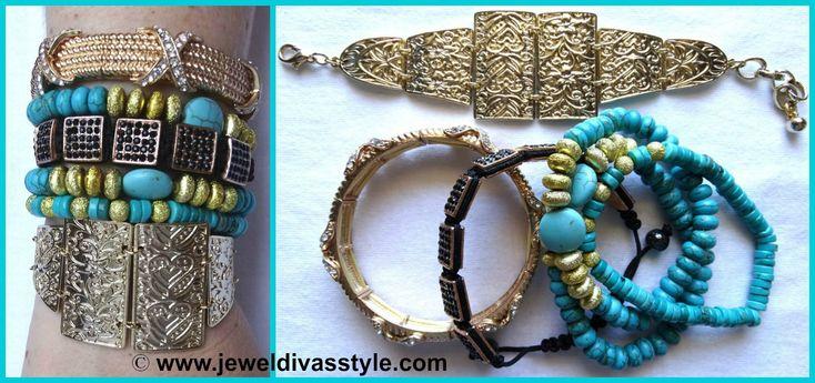 JDS - FROM NOW & ALWAYS BRACELET STACK - http://jeweldivasstyle.com/designer-inspired-more-bracelet-stacks/