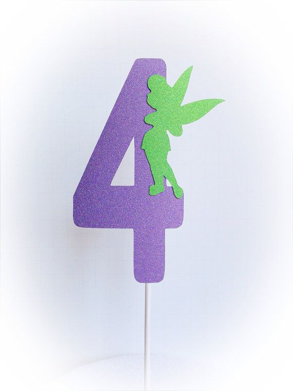 Tinkerbell Cake Topper by BMineOccasionDesign on Etsy, $4.00