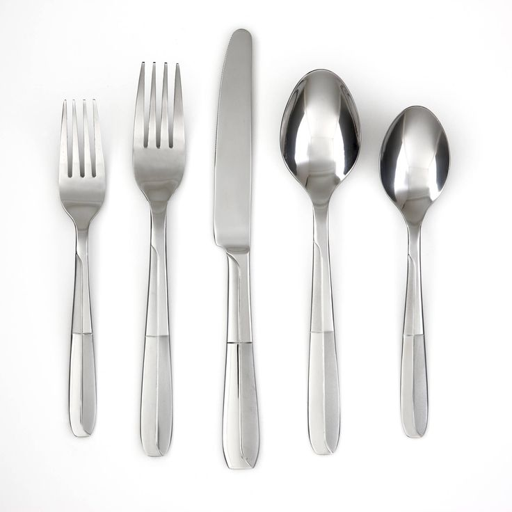 Add modern style to your table with this 48-piece flatware set from Cambridge featuring alternating polished and frosted finishes. Includes: eight Salad Forks, eight Dinner Forks, eight Dinner Knives, eight Dinner Spoons, eight Teaspoons and eight Steak Knives. Stainless steel is dishwasher safe and never needs polishing. *** Learn more by visiting the image link.