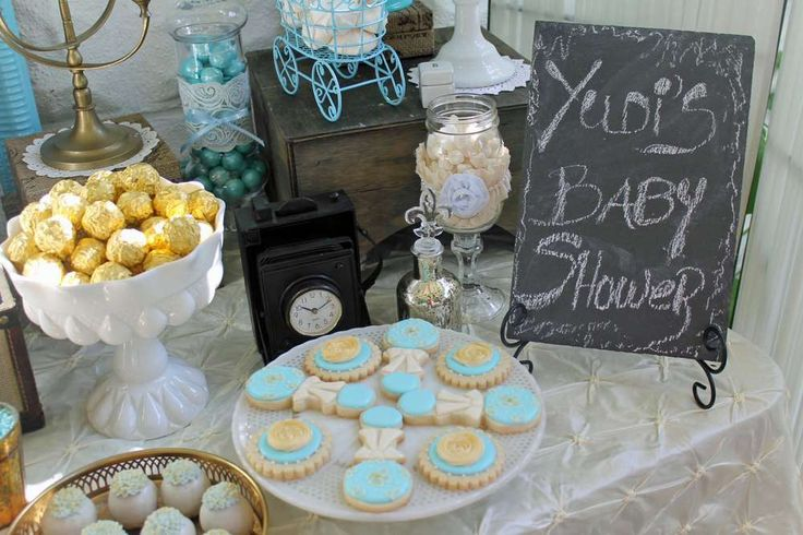 Vintage Chic Baby Shower  | CatchMyParty.com