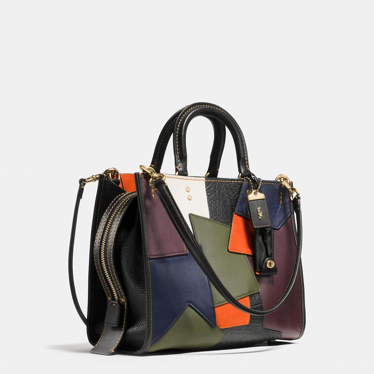 An example of the ultimate in Coach craftsmanship, the patchwork leather Rogue is pieced entirely by hand. Top handles and removable straps allow you to carry this spacious satchel in hand or wear it over the shoulder. - sale designer handbags, buy purse, designer handbag sale *ad