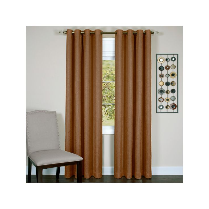 """Taylor Grommet Lined Curtain Panel Gold (50""""x 63"""") Achim"""