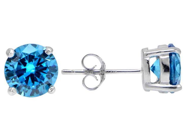 Bella Luce(R) Esotica(Tm) 4.34ctw Neon Apatite Simulant Sterling Silver Stud Earrings