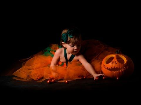 Tutorial Halloween. TUTU Calabaza y Sesion de Fotos Casera - YouTube