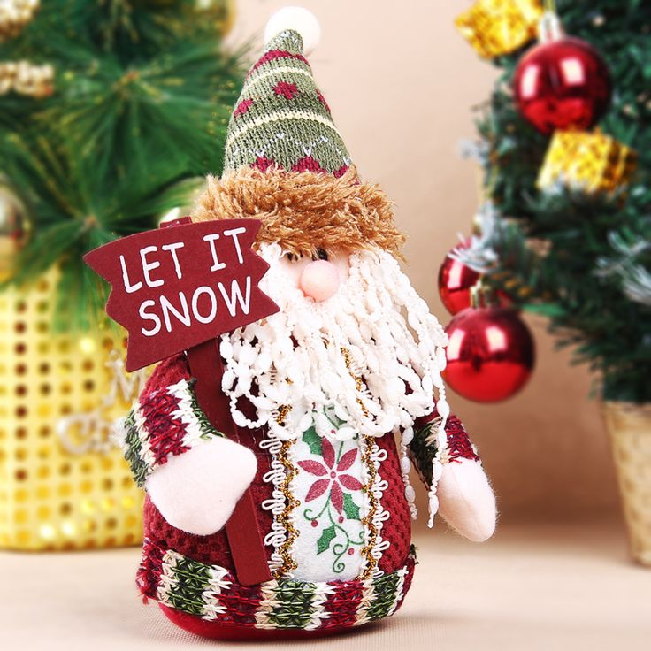 Table Ornament Snowman/ Moose/ Cute Santa Claus Design Indoor Christmas Standing Decoration Supplies Free Shipping