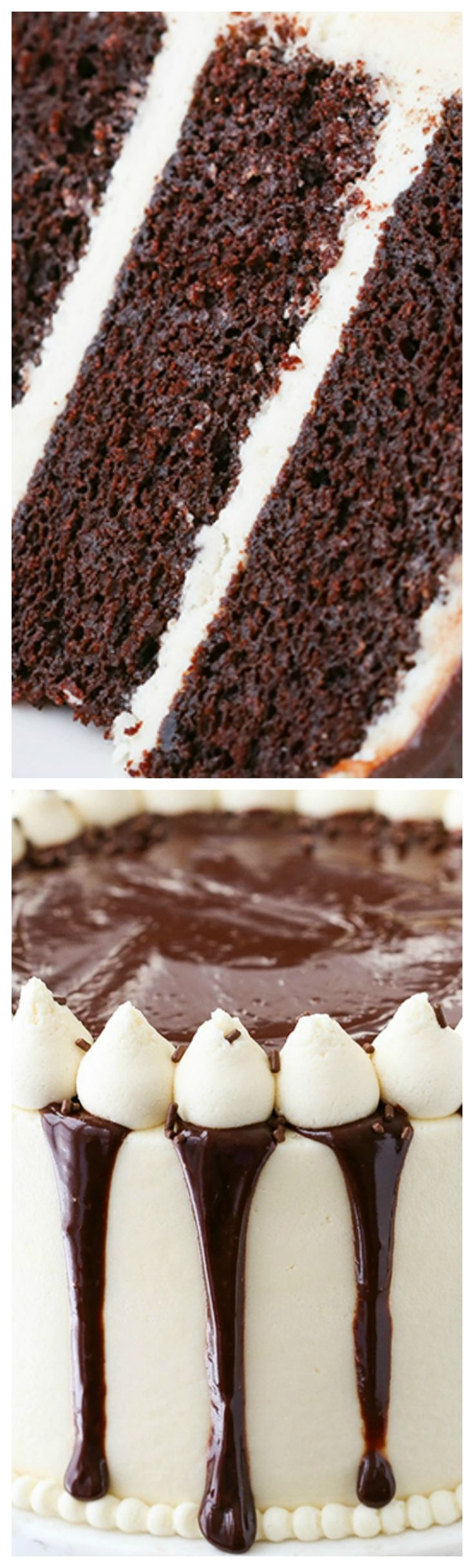 Baileys Chocolate Cake ~ Combines two favorite things – Baileys and chocolate – in one amazing, moist and fun layer cake!