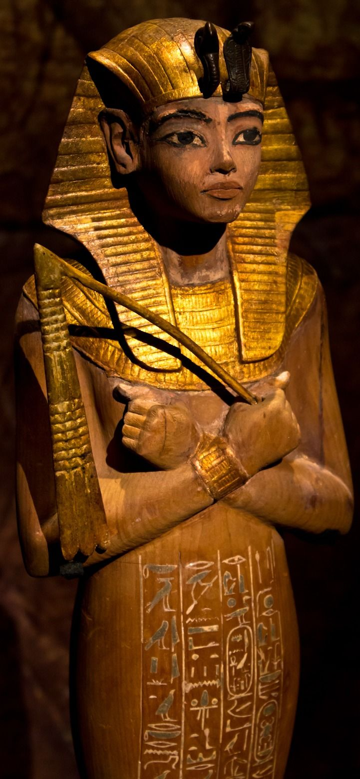 best images about ian tutankhamun statue of ushabti of tutankhamun image and description via wiki this is a partly gilded