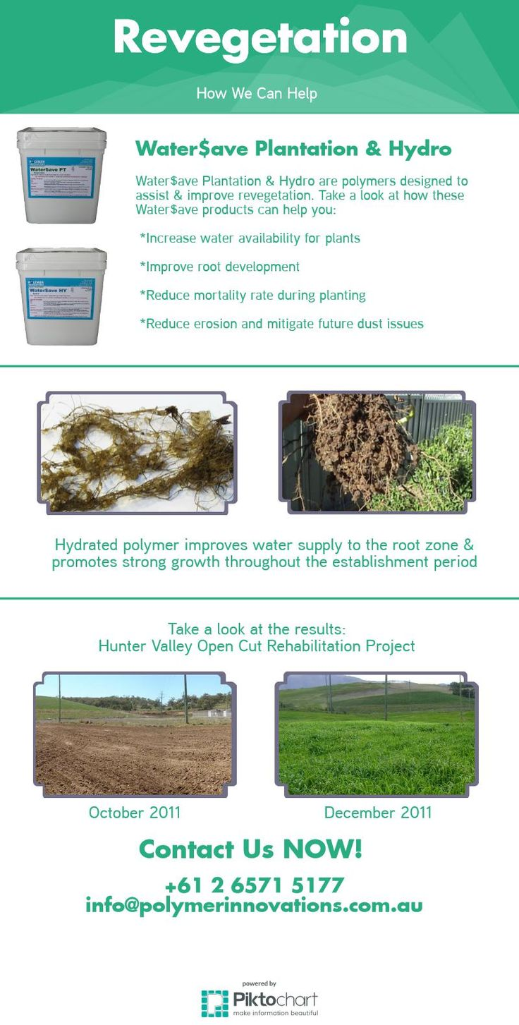 Try Water$ave Plantation or Hydro for revegetation today!  Enhances root development while reducing transplant shock.  For more information, head to: www.polymerinnovations.com.au   #green #plant #crop #seed #farming #water #save