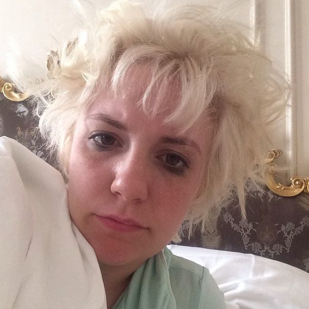 Lena Dunham Posts The Only Authentic Woke Up Like This Selfie And It's #Flawless