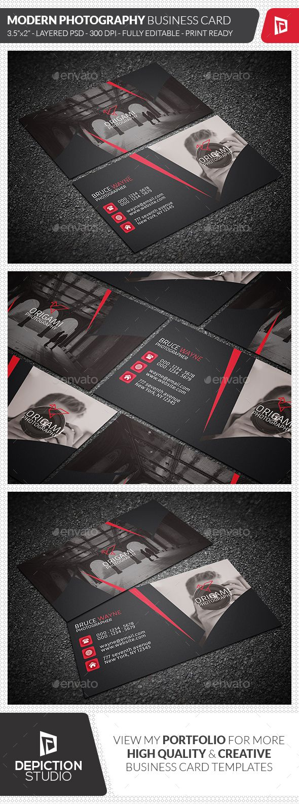 Best Joby Business Card Images On Pinterest Photography - 35 x2 business card template