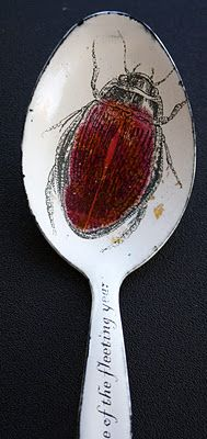 Sue Brown's enamel work on cutlery- I like this design because it is simple. The red makes it stand out and seem bold against the plain white,