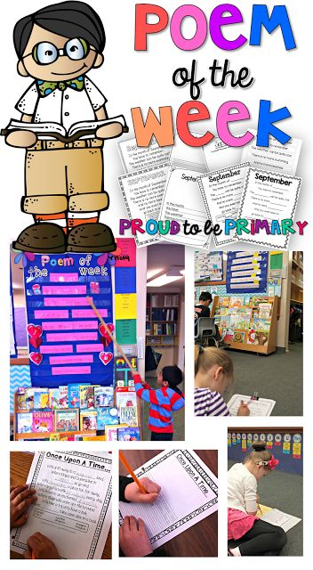 Proud to be Primary: Poetry in the Classroom with a poem of the week, plus activities! www.proudtobeprimary.com
